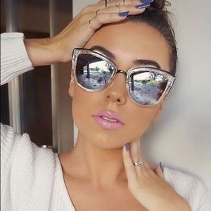 Quay My Girl Clear Mirrored Sunglasses